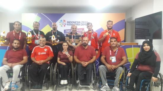 استقبال حافل ينتظر البعثة الأردنية العائدة من دورة الألعاب البارالمبية في جاكارتا