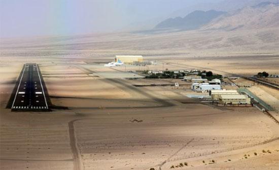انحراف طائرة اثناء هبوطها في مطار العقبة