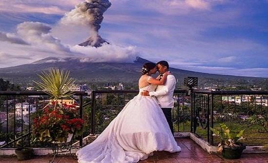 زواج بين حمم البركان