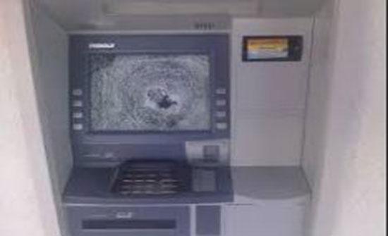 سرقة اموال من صراف آلي تابع لاحد البنوك في جرش