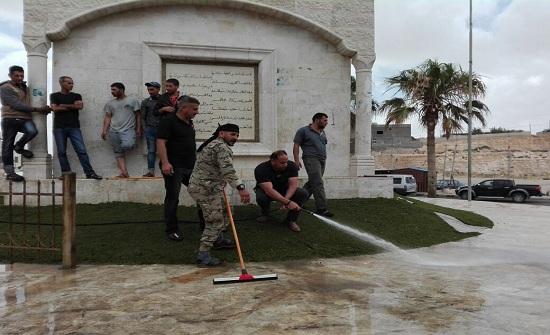 بالصور :  الطفيلة التقنية تنظم حملة نظافة شاملة في منطقة العيص