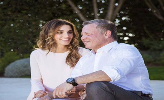 الملكة رانيا تحتفل بعيد ميلاد الملك الـ56 بقصيدة مغناة