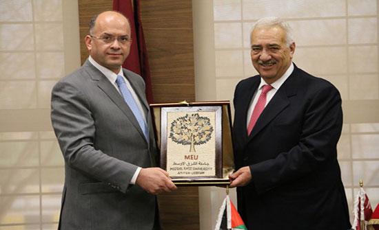 """اتفاقية تعاون مشتركة بين """"الشرق الاوسط """" ومؤتة"""