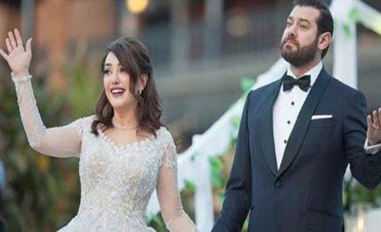 بالصورة - شاهدوا كيف احتفل عمرو يوسف وكندة علوش بعيد زواجهما الأول