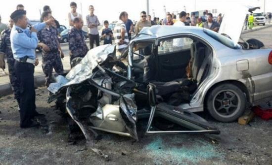 وفاة وثلاثة اصابات بحادث سير في الشونة الجنوبية