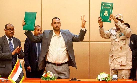"""الرياض والقاهرة ترحبان بتوقيع """"الإعلان الدستوري"""" في السودان"""