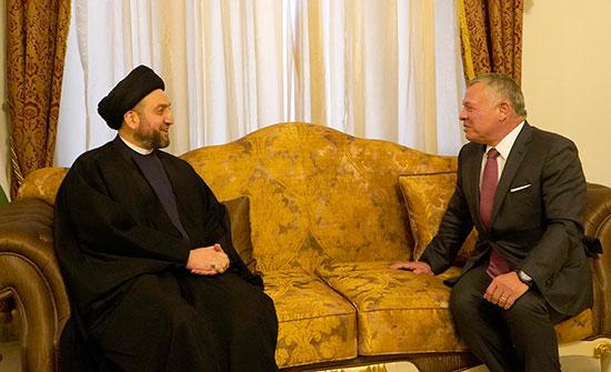 الملك يلتقي رئيس تحالف الإصلاح والإعمار في العراق