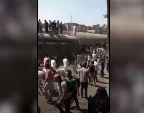 مصر.. عشرات المصابين في خروج قطار عن مساره