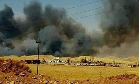 بالفيديو : وفاة و3 إصابات جراء حريق بشركة كبريت شمالي العراق