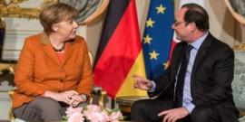 أولاند وميركل يؤكدان: أزمة المهاجرين تحتاج حلا على مستوى الاتحاد الاوروبي