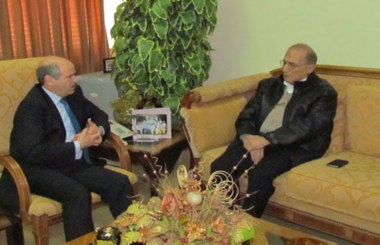 مدير عام دائرة الإحصاءات العامة يلتقي رئيس مجلس إدارة شركة بورصة عمان