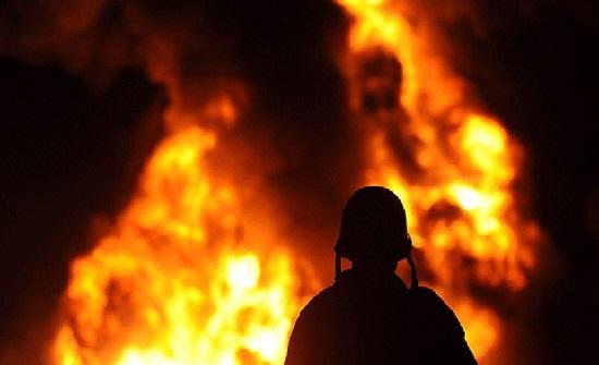 حريق يلتهم محلا تجاريا  في وادي الرمم