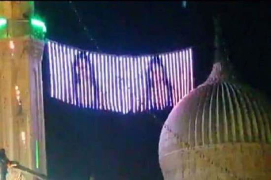 بالفيديو: مِئْذَنَة جامع بحي السيدة زينب في مصر تتحول إلى شاشة عرض تظهر عليها إحدى الراقصات