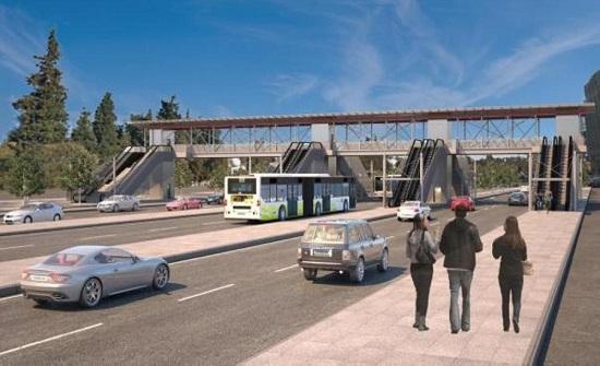 الامانة: مصاعد وادراج كهربائية لجسور المشاة -صور