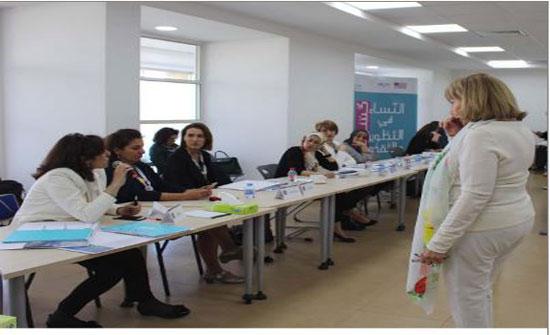 """ندوة بمعهد الإعلام حول مشروع """"النساء شركاء في التطوير والتقدم"""""""