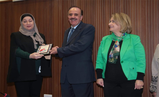 تكريم الأستاذة الدكتورة وفاء الأشقر من جامعة إربد الأهلية