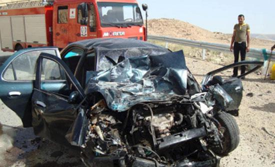 ارتفاع حصيلة ضحايا تدهور مركبة في معان الى 3 وفيات