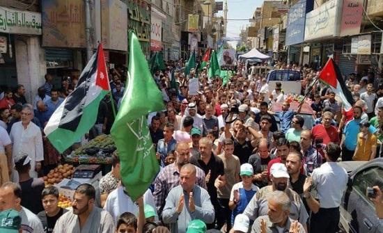 مسيرة في الزرقاء تؤكد على عروبة القدس