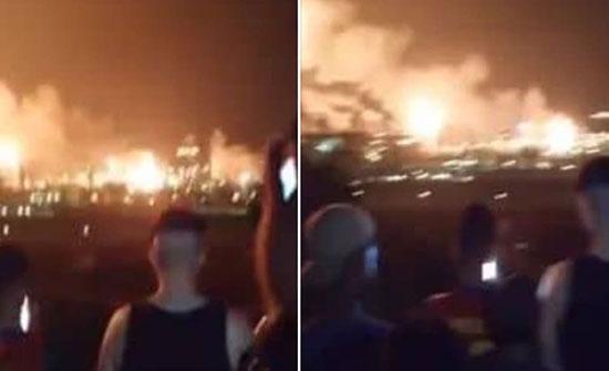 بالفيديو : الجزائر.. انفجار بأكبر مصنع لتمييع الغاز في بطيوة بوهران