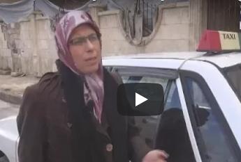 بالفيديو: 'أم النور' أول سائقة تكسي.. تقود التغيير في حلب