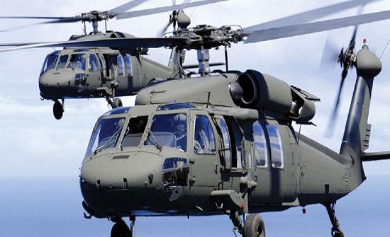 امريكا تسلم الأردن 12 طائرة بلاك هوك