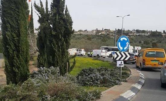 إصابة حرجة لحارس أمن إسرائيلي طعنًا قرب سلفيت