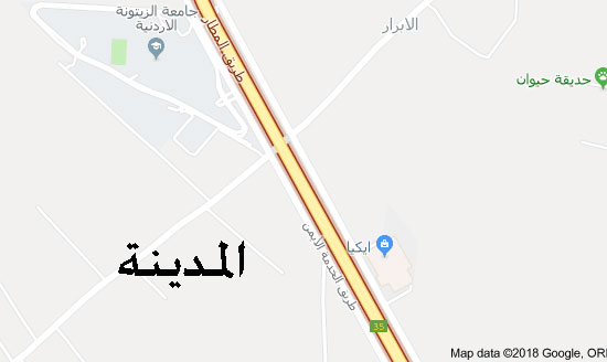 إصابة (4) أشخاص اثر حادث تدهور على طريق المطار