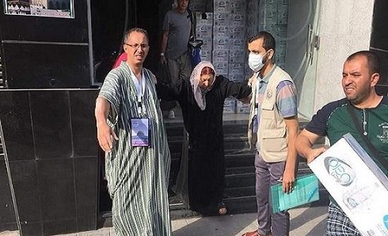 بالصور.. حريق بفندق لحجاج فلسطينيين في مكة
