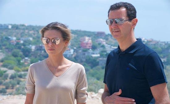 """بالصور: """"لوك جديد"""".. زوجة بشار الاسد بآخر اطلالة في دمشق!"""