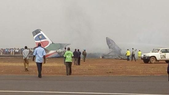 تحطم طائرة ركاب في جنوب السودان - صور