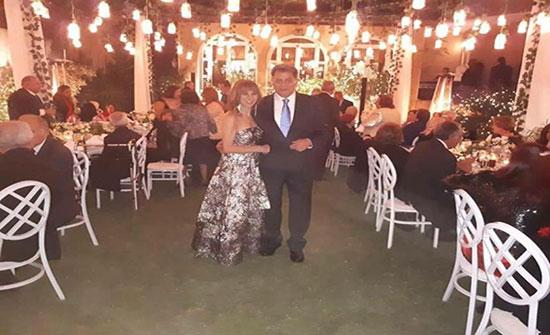 """بالصور: """"السن مجرد رقم"""".. زفاف سامية علوبة مدربة اللياقة بعد تجاوزها الـ60"""