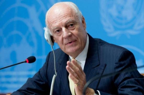 دي ميستورا: تقسيم سوريا أسوأ فرضية ممكنة