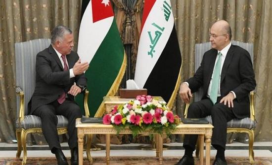 الملك يستقبل الرئيس العراقي لدى وصوله عمان