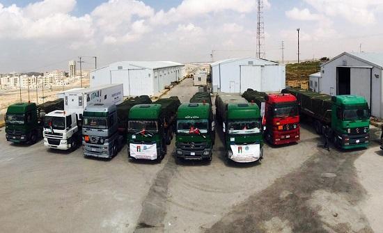 الخيرية الهاشمية تسير قافلة مساعدات لفلسطين