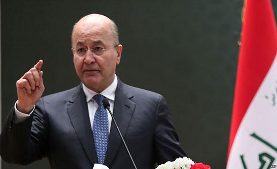 الرئيس العراقى يغادر المملكة