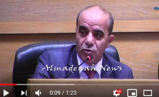 النائب الدكتور حسني الشياب على سرير الشفاء بعد عملية تكللت بالنجاح