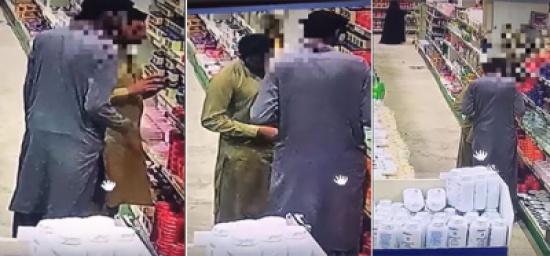 شاهد: لصان يسرقان متجراً ويخفيان المسروقات بطريقة ماكرة