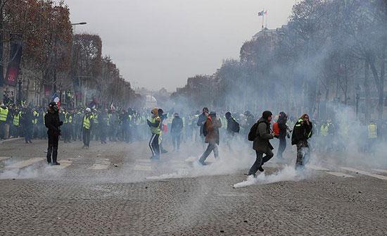 """الشرطة تفرق تظاهرة لـ """"السترات الصفراء"""" في بروكسل"""