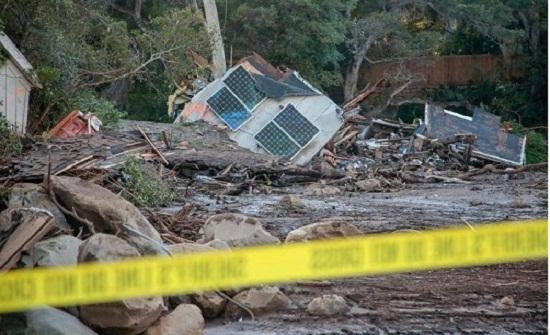 مقتل 19 وفقدان خمسة في انزلاقات للتربة في كاليفورنيا