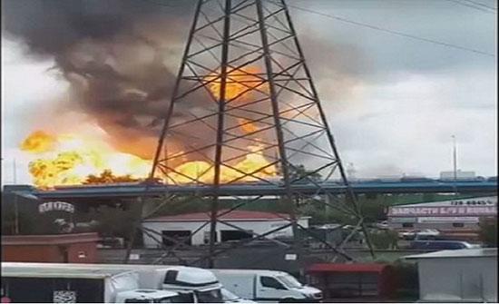 حريق كبير في محطة الطاقة الحرارية بضواحي موسكو