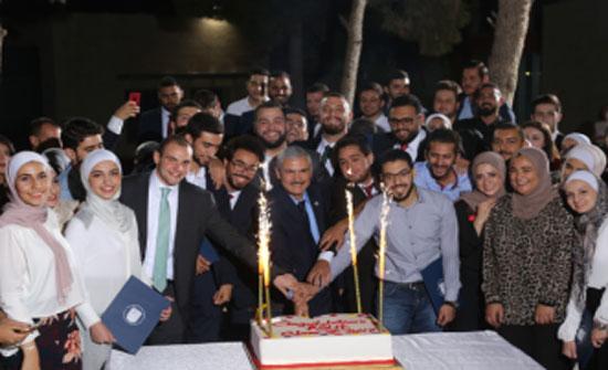 الأميرة سمية بنت الحسن المعظمة تكرم الطلبة المتميزين في جامعة الأميرة سمية للتكنولوجيا