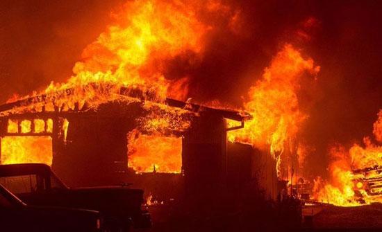 وفاة طفلة و إصابة 3 آخرين اثر حريق منزل في الكرك