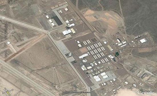 قاعدة سرية ومنطقة للأطباق الطائرة في لاس فيجاس بولاية نيفادا