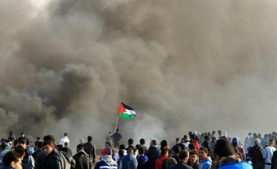12 مصابا خلال مواجهات مع الاحتلال شمال قطاع غزة