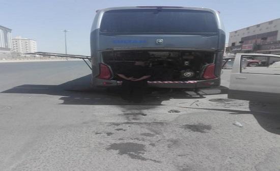 حافلة بديلة لحجاج اردنيين تعطلت حافلتهم بالطريق