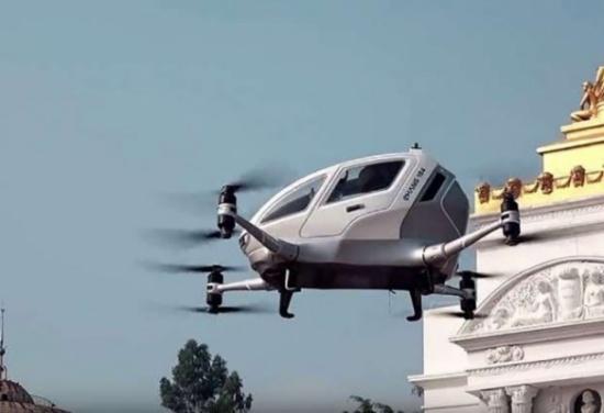 بالفيديو: اختبار أول تاكسي طائر ذاتي القيادة في الصين