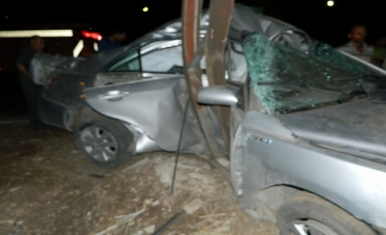 وفاة شخصين وإصابة ثلاثة آخرين اثر حادث تدهور  في اربد