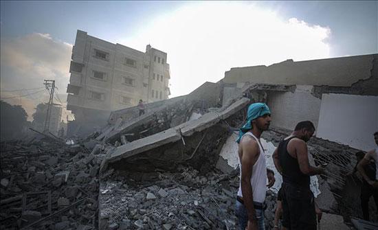 """""""حماس"""": قصف إسرائيل لمركز ثقافي في غزة سلوك همجي"""