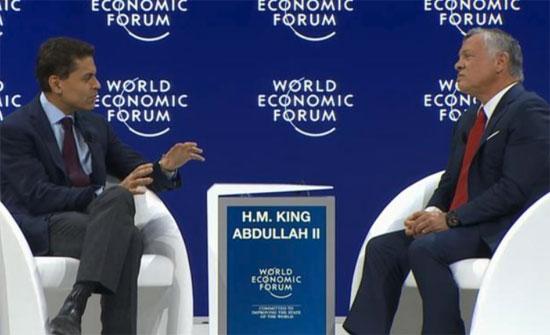 الملك عبدالله من دافوس: لا منتصر بسوريا والسعودية ترسم خطوطا حمراء لإيران