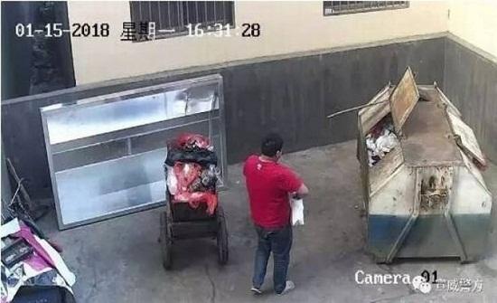 فيديو| رمى طفلته الرضيعة في الزبالة معتقدا أنه لا علاج لها !